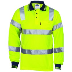 175gsm Polyester HiVis Biomotion Polo Shirt with CSR R - Tape L - S - 3713