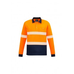 Unisex Hi Vis Segmented L/S Polo - Hoop Taped - ZH530