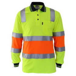 HiVis Cotton backed 2T Bio-motion D-N Polo - 3819