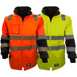 Jacket with Removable Sleeves Poly Oxford with TRu Reflective Tape (Combine with TJ2900T6 to make 6 in 1 Jacket) - TJ2945T4