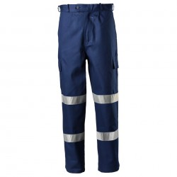 Trousers Heavyweight Cotton Drill Cargo with 3M Bio-Motion Reflective Tape - DT1142T2