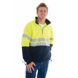 300gsm Polyester HiVis Two Tone 1/2 Zip Polar Fleece With 3M Ref