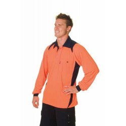 175gsm HiVis Cool Breathe  Action Polo Shirt, L/S - 3894