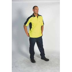 220gsm Polyester Cotton Contrast Polo Shirt, S/S - 3895
