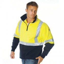 300gsm Polyester Cotton HiVis D/N Polyester Cotton 2 Tone 1/2 Zi