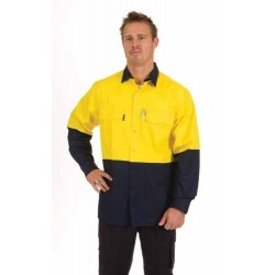 155gsm HiVis 3 Way Cool-Breeze Cotton Shirt, L/S - 3938