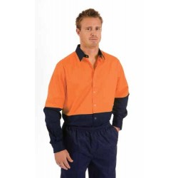 190gsm HiVis Food Industry Cool-Breeze Cotton Shirt, L/S - 3942
