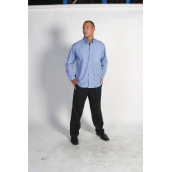 110gsm Polyester Cotton Chambray Business Shirt, L/S - 4122