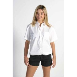 110gsm Polyester Cotton Ladies Poplin Shirt, S/S - 4201