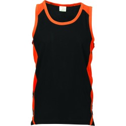 175gsm Polyester Adult Cool-Breathe Contrast Singlet - 5141