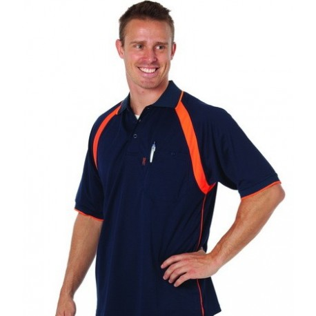 175gsm  Cool Breathe Contrast Polo Shirt, S/S - 5216