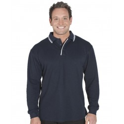 L/S CONTRAST POLO - 210XC
