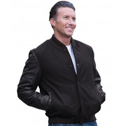 ART LEATHER BASEBALL JACKET - 3BLJ