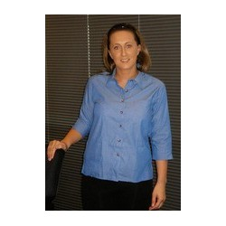 JB's LADIES 3/4 INDIGO SHIRT     - 4LICT