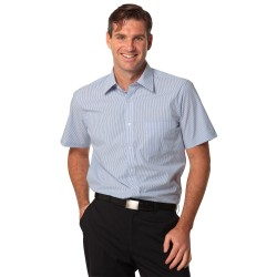 Mens Balance Stripe Short Sleeve Shirt - M7231