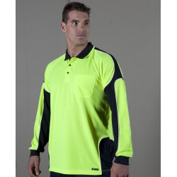 HI VIS L/S ARM PANEL POLO - 6AP4L