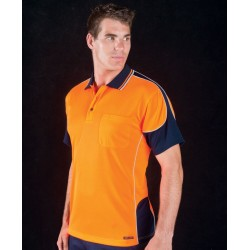 HI VIS CONTRAST PIPING POLO - 6HCP4