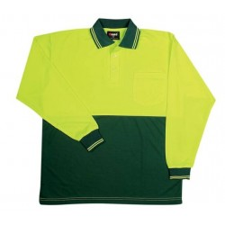 Hi Vis Long Sleeve Polo - PS101L