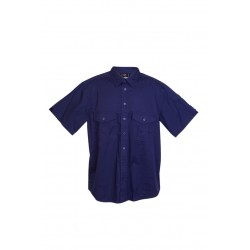 Cotton Drill Work Short Sleeve Shirt - S005MS