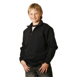 Kids American Style 1/2 Collar Fleecy Sweat - FL02K