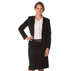 Womens Poly/Viscose Stretch One Button Cropped Jacket - M9205