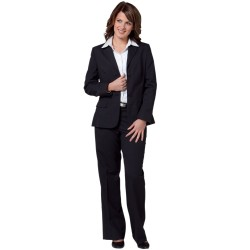 Womens Poly/Viscose Stretch Two Buttons Mid Length Jacket - M9206