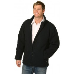 Mens Bonded Polar Fleece Full Zip Fitted Jacket - PF07