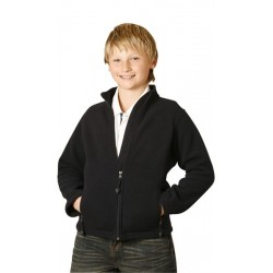 Kids Bonded Polar Fleece Full Zip Fitted Jacket - PF07K