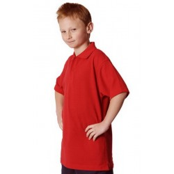 Kids Pique Knit Short Sleeve Polo - PS11K