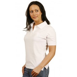 Ladies Tight Pique Knit Short Sleeve Polo - PS23