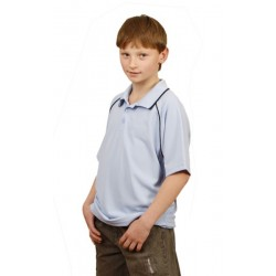 Kids CoolDry Raglan Short Sleeve Contrast Polo - PS24