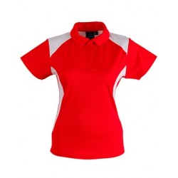Ladies TrueDry Short Sleeve Contrast Polo - PS32A