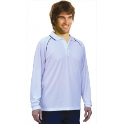 Mens CoolDry Raglan Long Sleeve Contrast Colour Polo - PS43