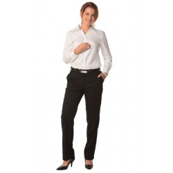 Womens Wool Blend Stretch Slim Leg Flexi Waist Pants - M9400