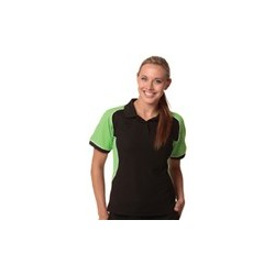 Ladies TrueDry Tri-colour Short Sleeve Pique Polo - PS78