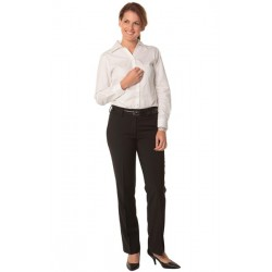 Womens Poly/Viscose Stretch Stripe Low Rise Pants - M9430