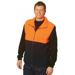 High Visibility 2 ToneZip Front Safety Vest - SW08