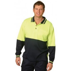 High Visibility TrueDry Long Sleeve Safety Polo - SW11