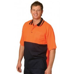 High Visibility TrueDry Short Sleeve Safety Polo - SW12