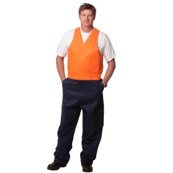 Mens Stout Size, Hi-Vis Action Back Overall - SW202