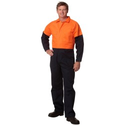 Mens Stout Size, Cotton Drill Coverall - SW205