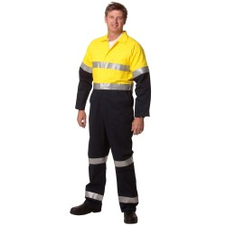 Mens Cotton Drill Coverall with 3M Scotchlite Reflective Tapes - SW207