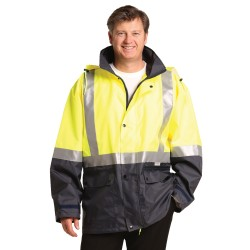 HI-VIS TWO TONE RAIN PROOF JACKET WITH QUILT LINING - SW28A