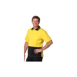Mens 100% Cotton Jersey Safety Polo - SW35