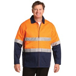 HI-VIS COTTON JACKET WITH 3M TAPES - SW46