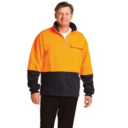 HI-VIS TWO TONE COTTON FLEECY SWEAT - SW47