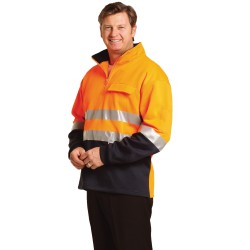 HI-VIS TWO TONE COTTON FLEECY SWEAT - SW48