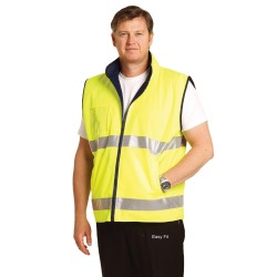 High Visibility Reversible Mandarine Collar Safety Vest - SW49