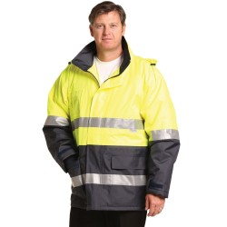 HI-VIS LONG LINE JACKET POLAR WITH FLEECE LINING - SW50