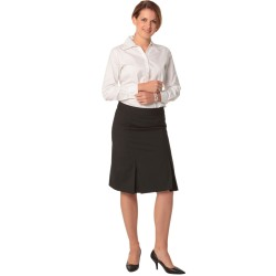 Womens Wool Stretch Pleated Skirt - M9473